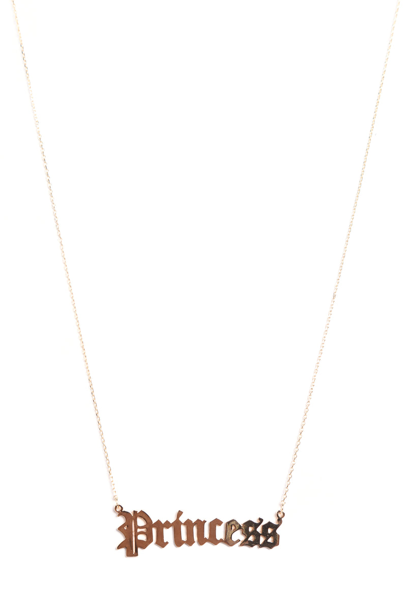 The Only Princess Necklace - Gold