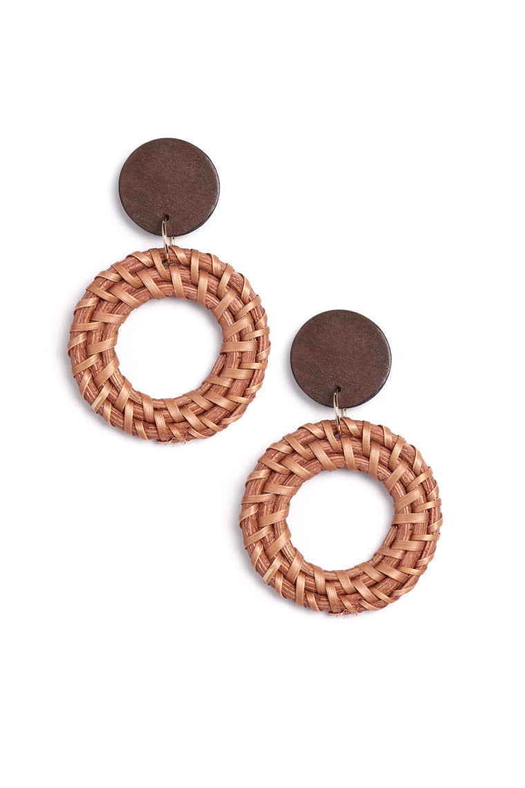 Ubeweavable Earrings - Brown