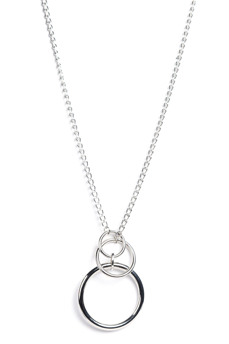 Oh Did You Ring Necklace - Silver