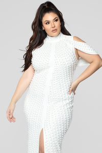 Look Beyond The Pearls Dress - White Angle 7