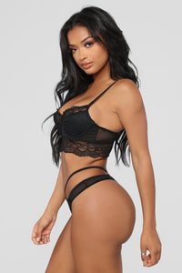 Dark Secrets Lace 2 Piece Set - Black
