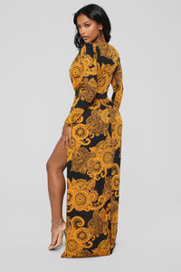 Spending Spree Dress - Black/Mustard