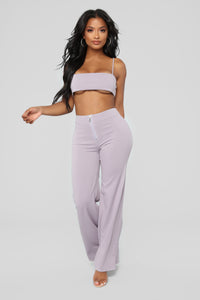Lilly High Waisted Pant Set - Lavender