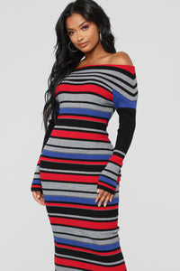 Let Love In Sweater Dress - MultiColor
