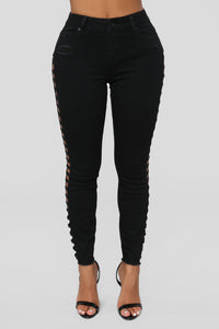 Cut You Off High Rise Jeans - Black