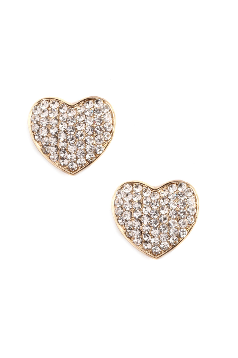 My Tiny Little Heart Earrings - Gold
