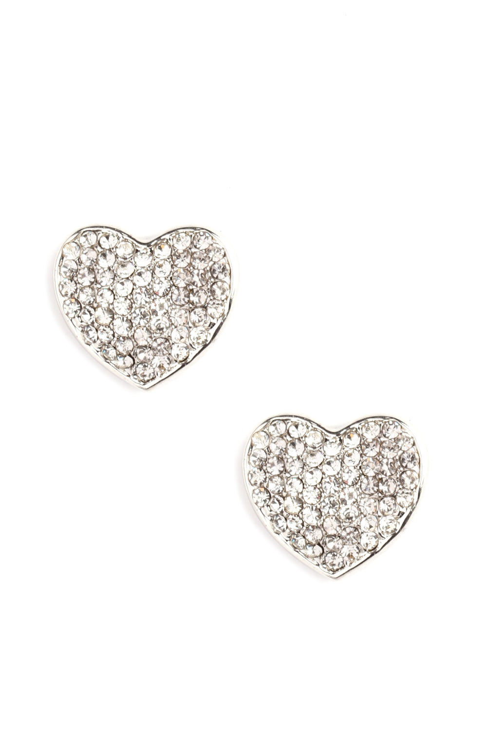 My Tiny Little Heart Earrings - Silver