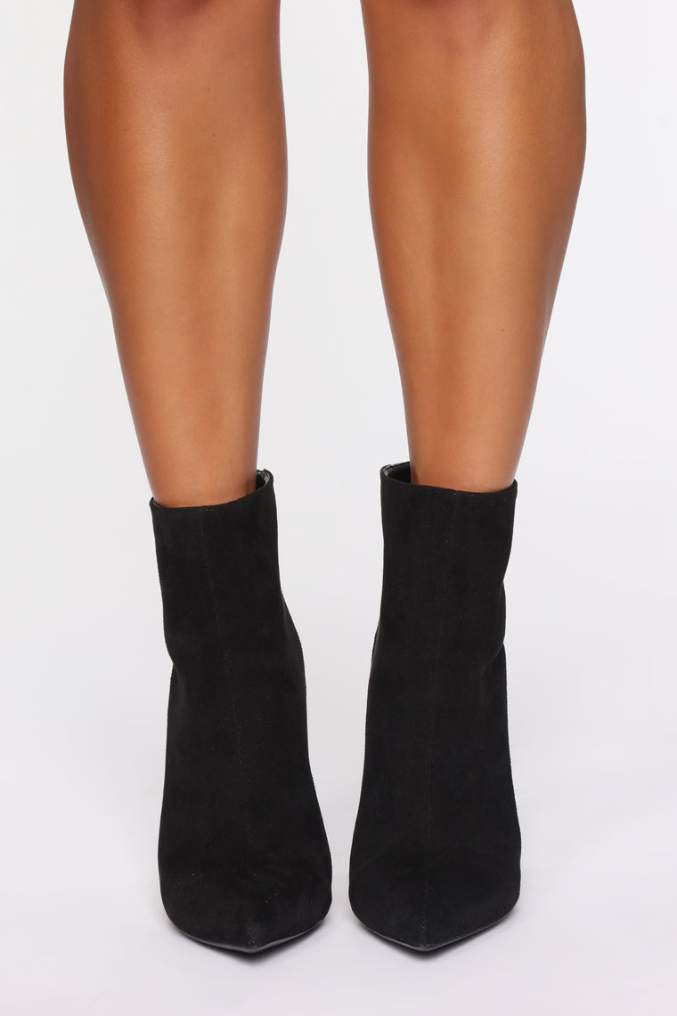 On The Other Side Booties - Black