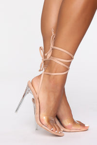 Blooming Love Heeled Sandals - Nude