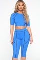 Holla At Ya Girl Lounge Set - Blue/Black