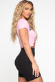 God's Plan Distressed Top - Pink