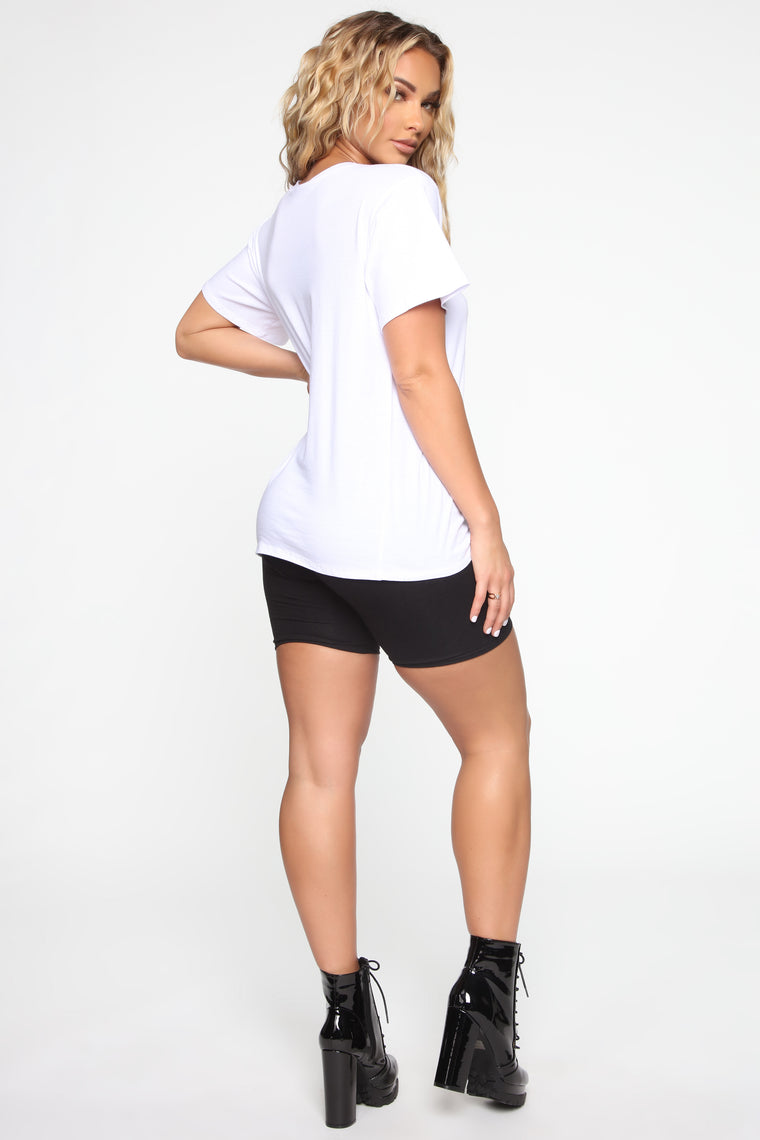 Over It Tunic Top - White