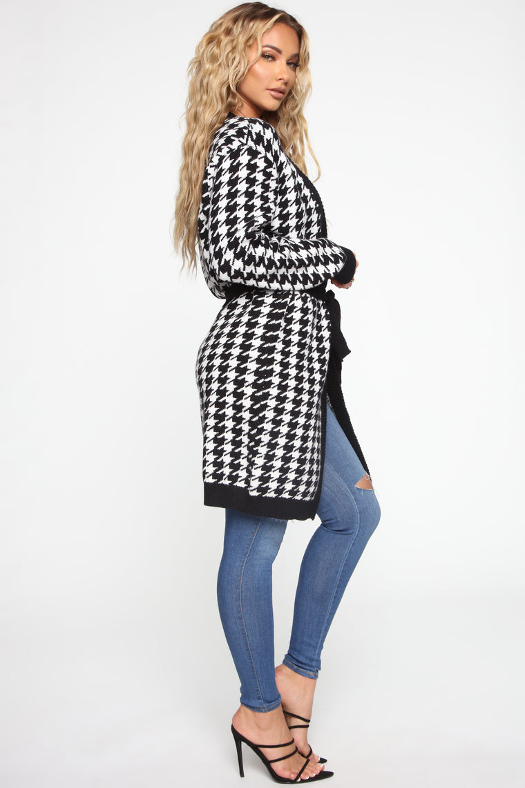 Show Some Class Cardigan - Black/White