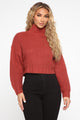When I Get Home Turtle Neck Sweater - Rose