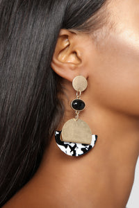 Fastest Tortoise Earrings - Black