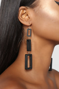 Wood You Mind Earrings - Black
