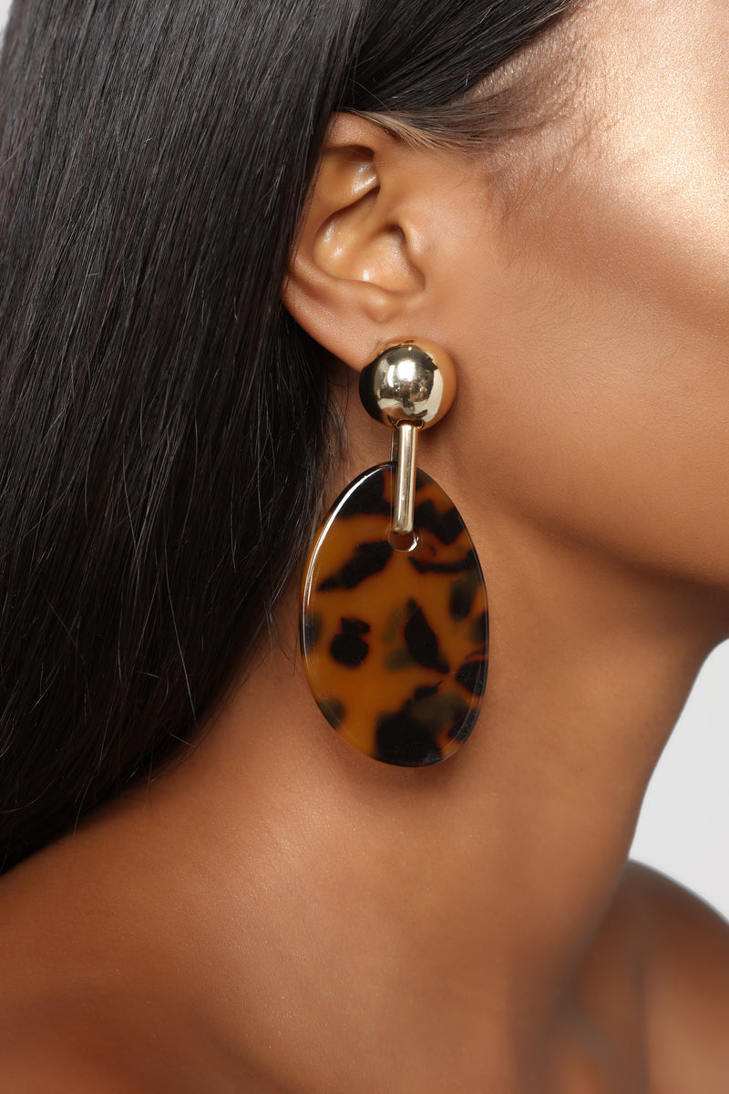 Like My Post Earrings - Tortoise