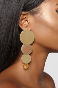 Going Around The Topic Earrings - Gold