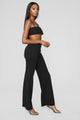 Lilly High Waisted Pant Set - Black