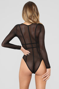 Katrina Lace Teddy - Black