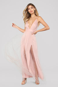 Pearls For Days Dress - Blush