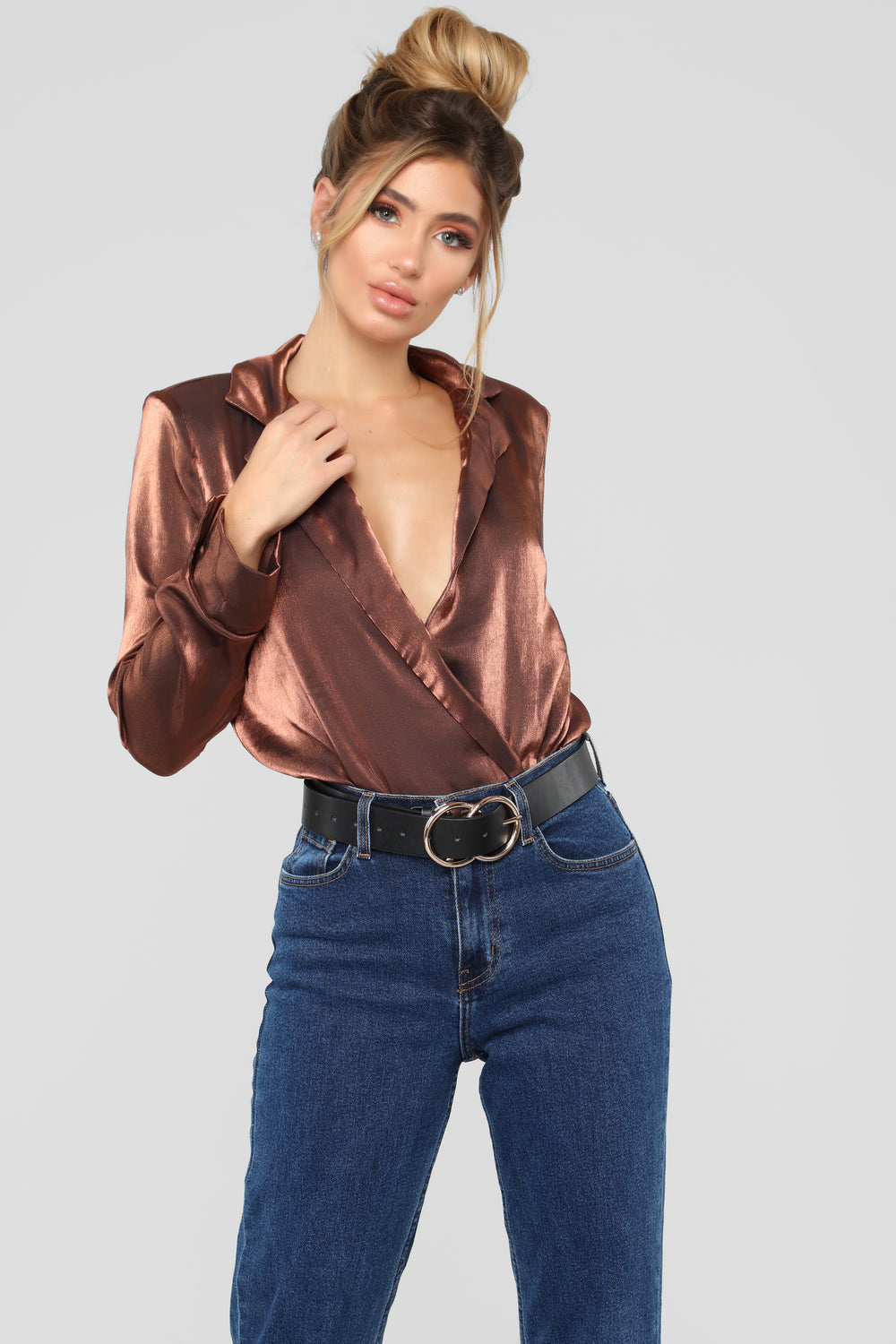 In My Dreams Tonight Bodysuit - Copper
