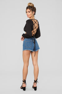 Augustina Long Sleeve Top - Black