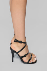 Can I Talk To You Heeled Sandal - Black