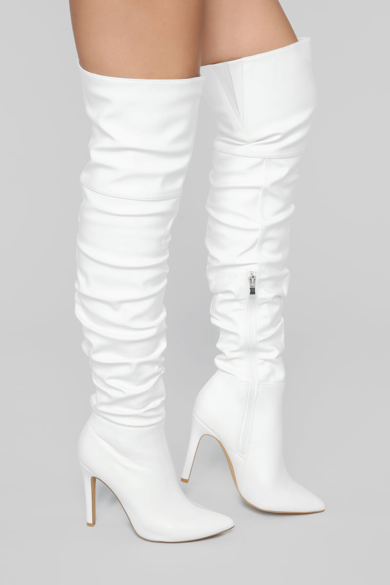 Stay Away From Me Heeled Boot - White