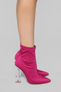 In The Muse Bootie - Fuchsia