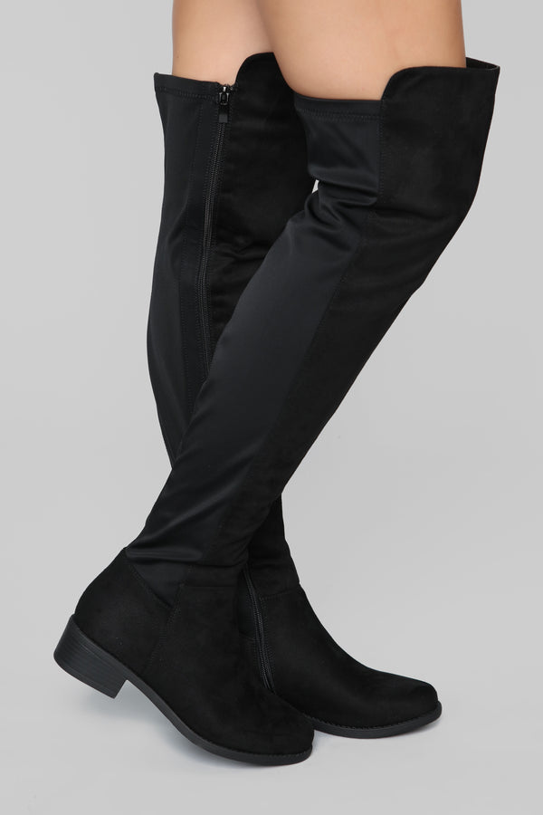 34fa75dfd40 Marja Over The Knee Boot - Black
