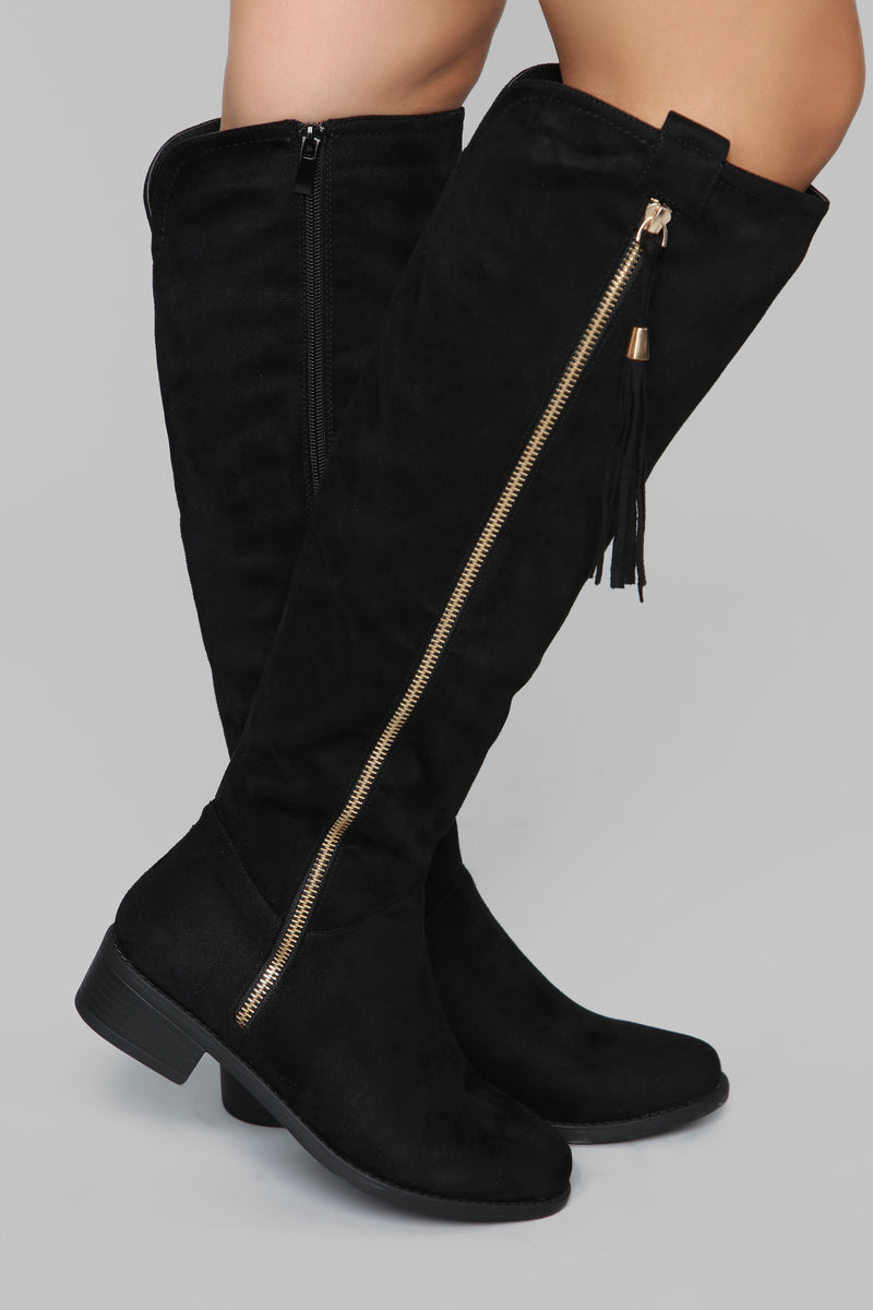 Amorie Flat Boot - Black