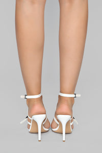 Can I Talk To You Heeled Sandal - White