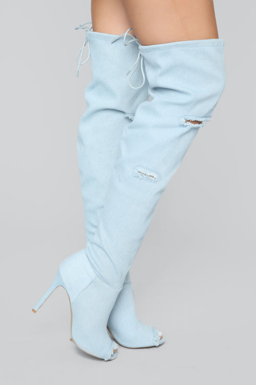 Blast From The Past Boot - Blue Denim