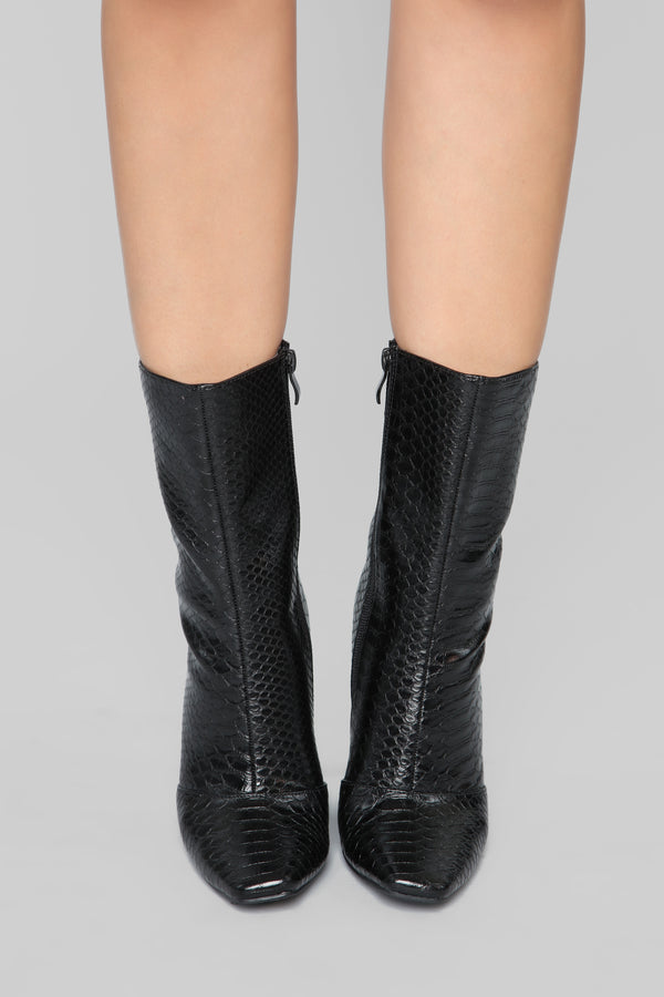 f49d5550d18 Couldn t Agree More Bootie - Black