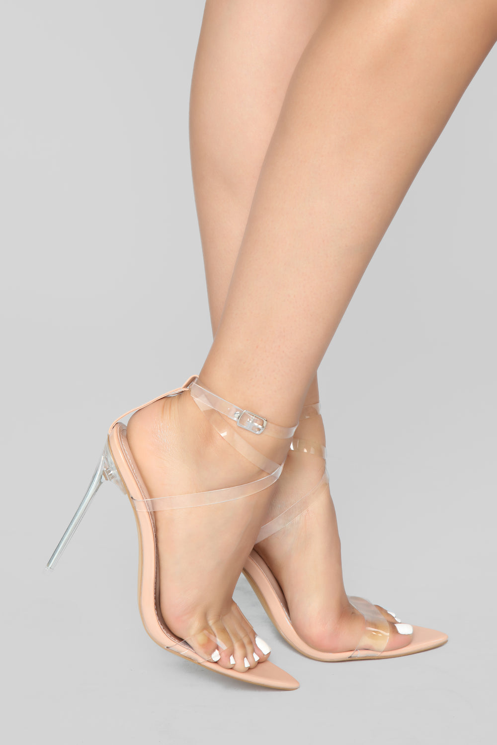 Coming Through Heeled Sandal - Nude Patent