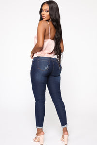 Sugar And Spice Ankle Jeans - DarkDenim
