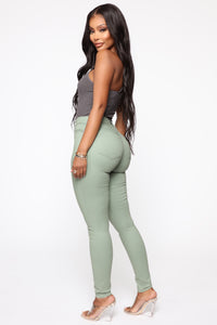 Monday Morning Skinny Pants - Sage Angle 4