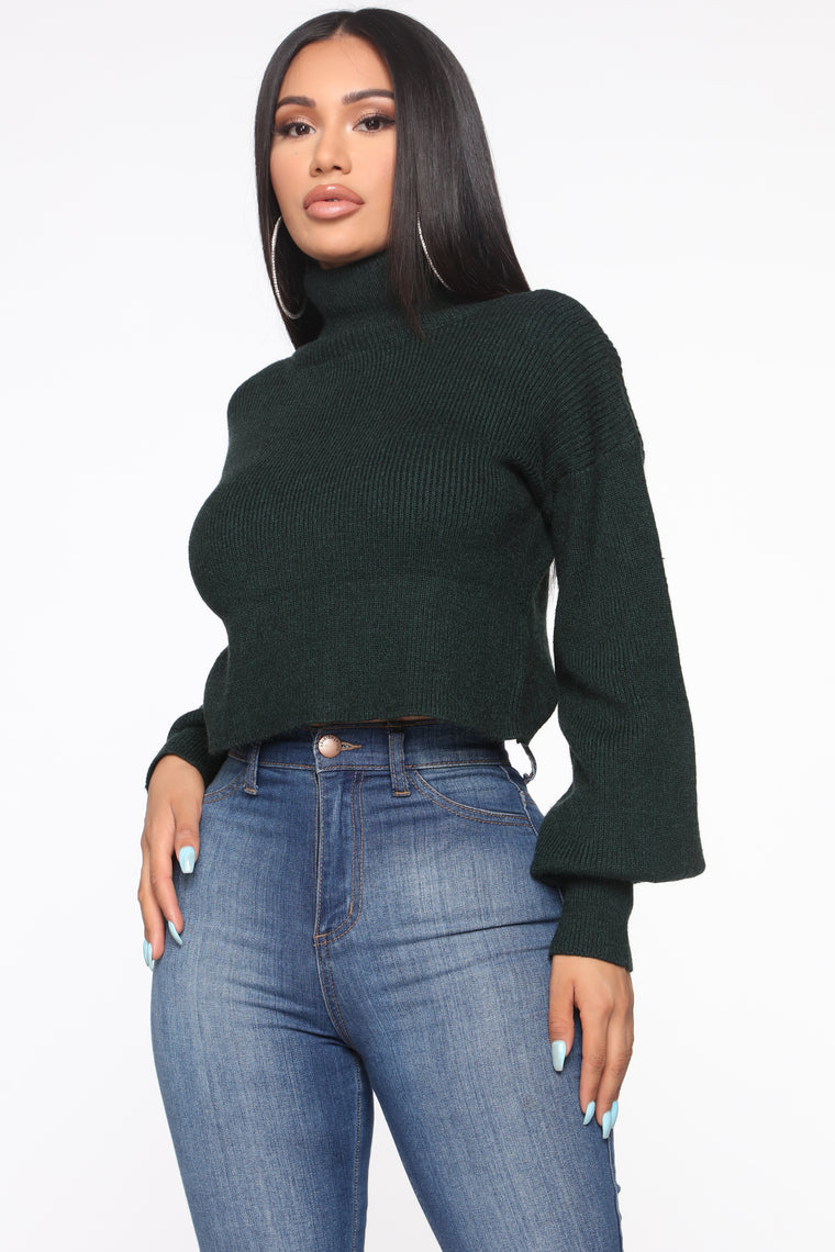 Won't Stop Loving You Turtleneck Sweater - Hunter