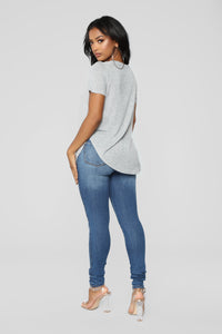 Timeless Crew Neck Top - Heather Grey