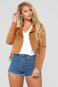 Suede Opinions Moto Jacket - Camel