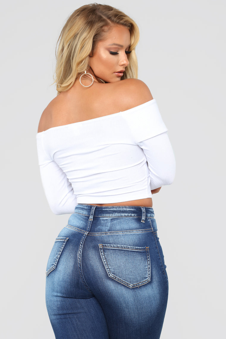 Grab Hold Of Me Off Shoulder Top II - White