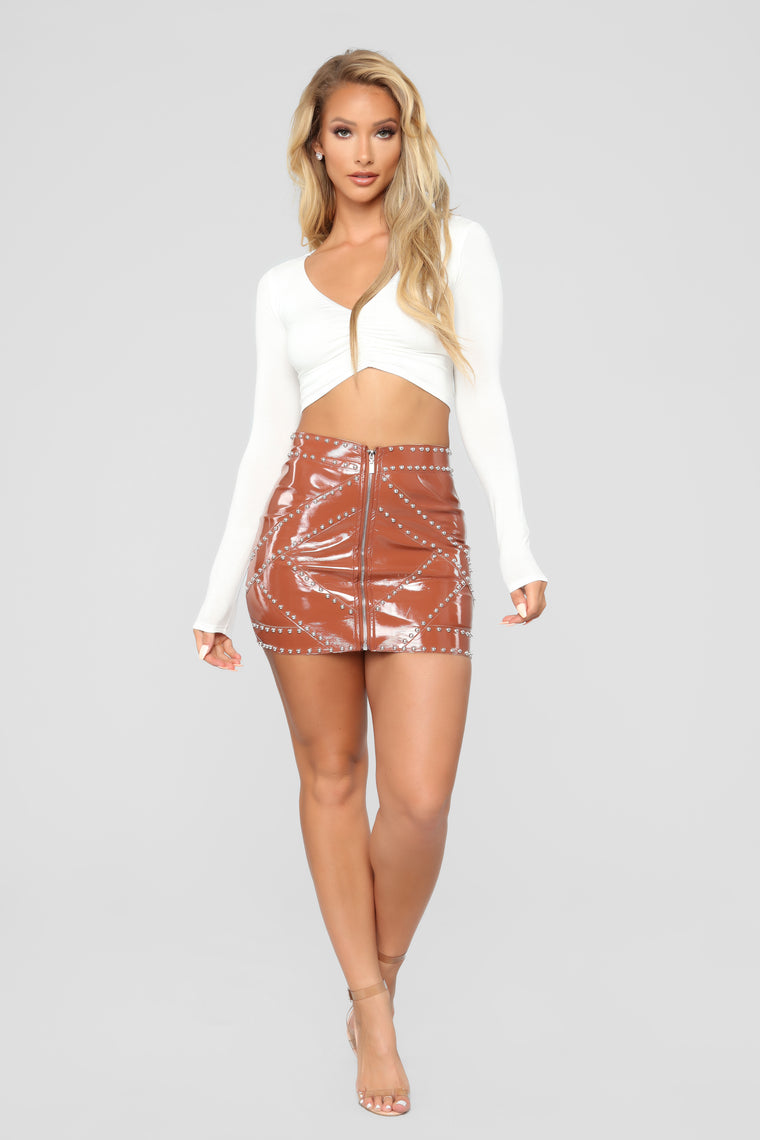 No Love Mini Skirt - Tan