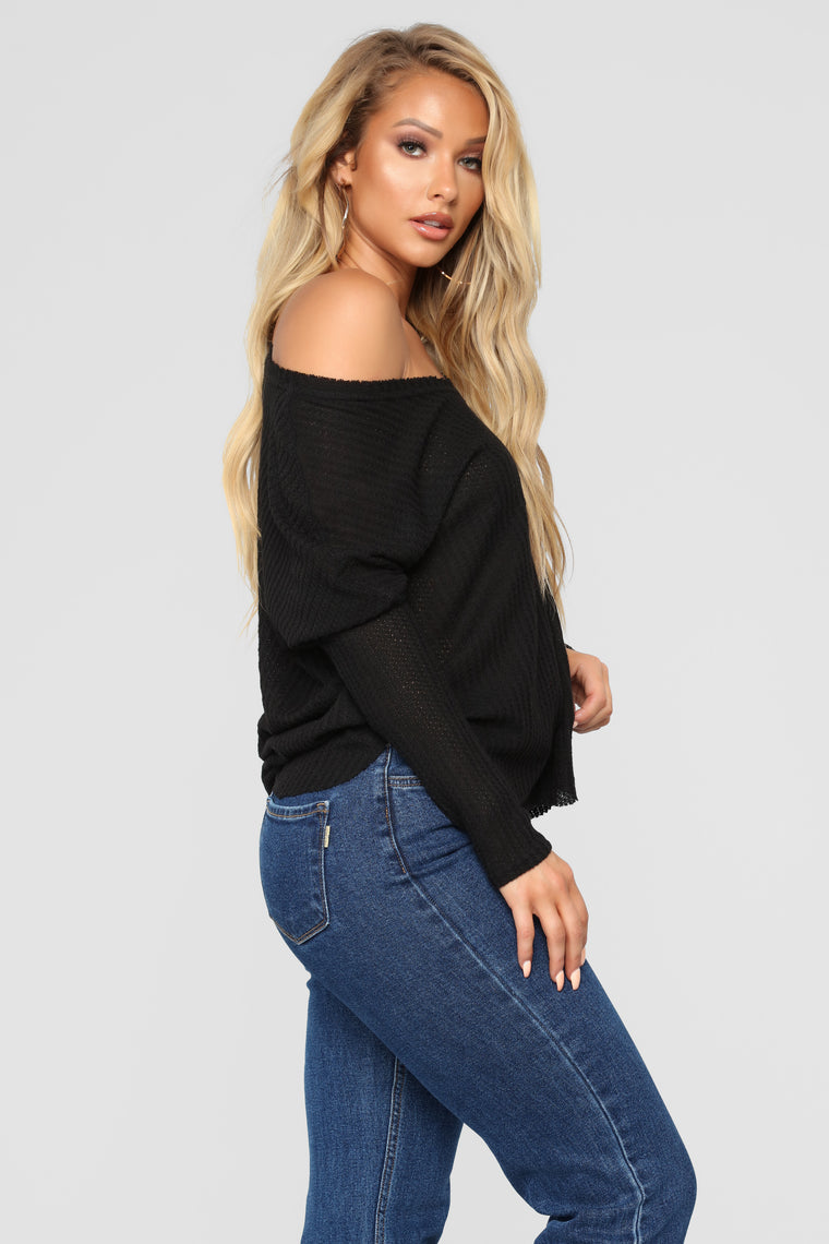 Mina Lounge Tunic - Black