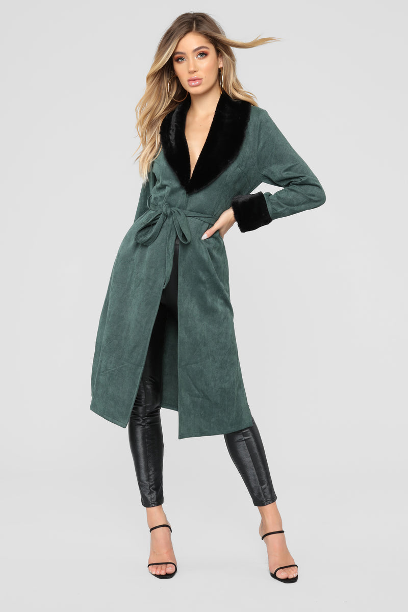8b922a2f2a4c Don t Love You Faux Fur Coat - Green