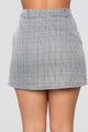 Crazy For You Plaid Skirt -Black/White