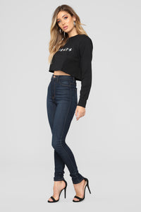 Friends Crop Top II - Black