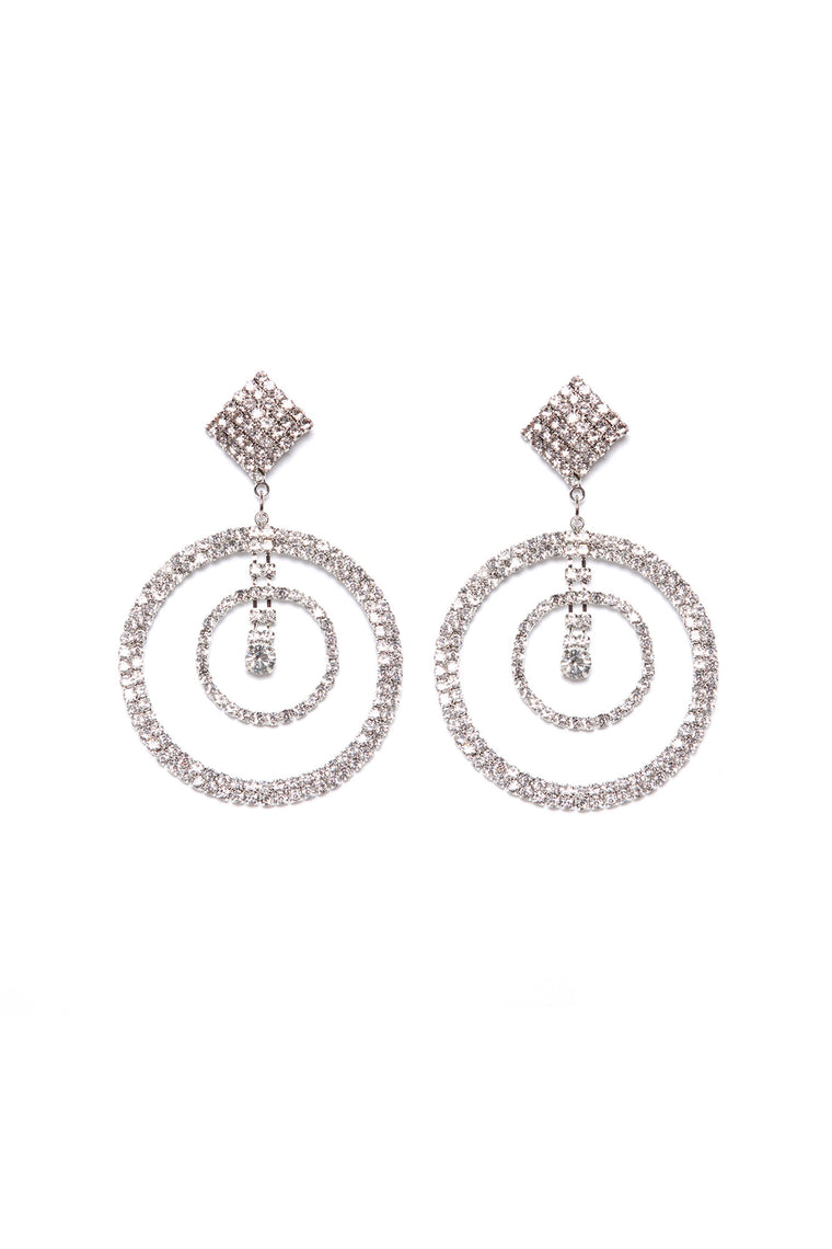 Doing The Most Drop Earrings - Silver
