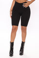 Tia Seamless Tummy Tuck Biker Shorts - Black