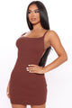 Salina Sweater Mini Dress - Brown